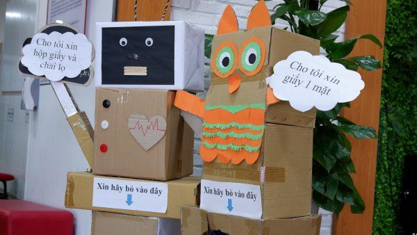 Hướng dẫn cách làm đồ chơi từ phế liệu rác tái chế - Loại giấy két giấy thùng