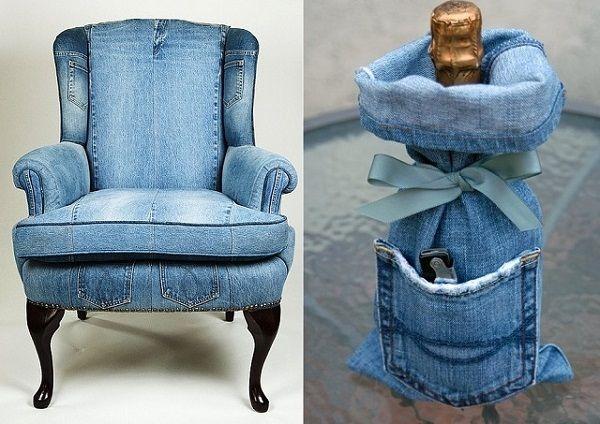 Tái chế quần jeans thành vỏ bọc của ghế - Công ty Phế liệu Quang Đạt