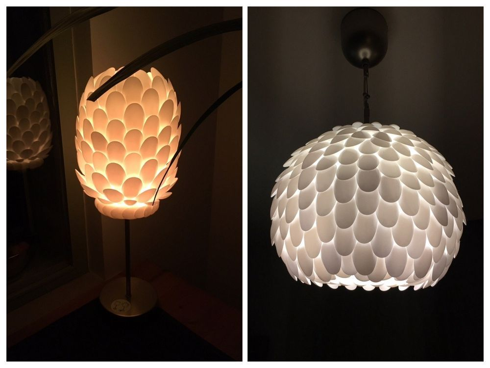Tái chế thìa inox thành những chiếc đèn xinh xắn - Công ty Phế liệu Quang Đạt