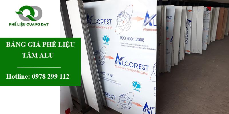 Bảng giá tấm alu phế liệu tại Quang Đạt